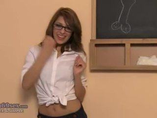 Sexy Teacher Joi - Sexy Slim Girl Masturbates And Strips