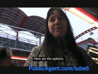 Publicagent недосвідчена cameraman fills її туга манда з сперма