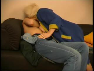 Russian mature mom and her boy! Amateur!