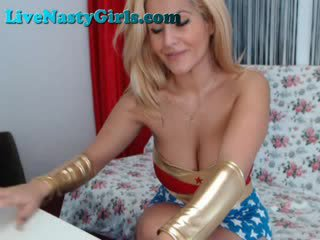 Blonde Wonder Woman And Cop on Part 5