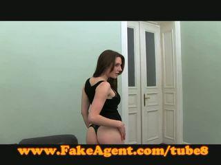 FakeAgent Sexy Spanish amateur fucks in casting