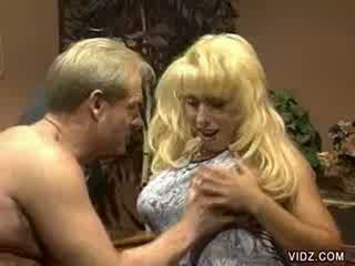 Daddy's old shaft fierce a blondie slut's Pussy