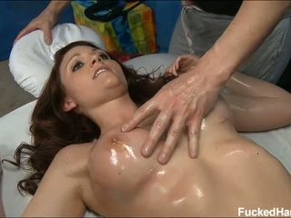 Pounding pleasures for sweetheart during massage
