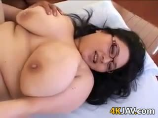 Fat Japanese Nerd Having Sex