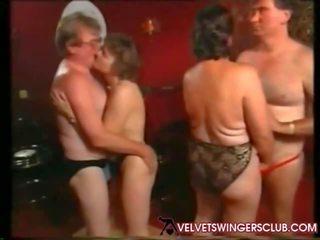 sexe de groupe, échangistes, mamie