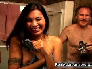 Asiáticos chupar y joder