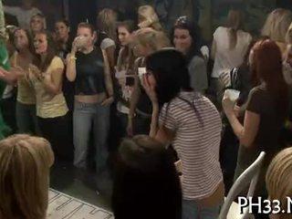 A lot of blonde ladies engulfing dicks