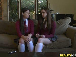 フル 女子学生 新鮮, 学生服, もっと 裸の女子学生