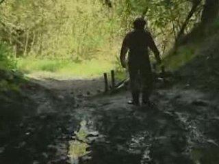 meitene, mežs, rape