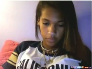 Young Ebony Masturbating Her Pussy