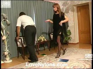 Diana dhe lesley videotaped whilst having nylonsex