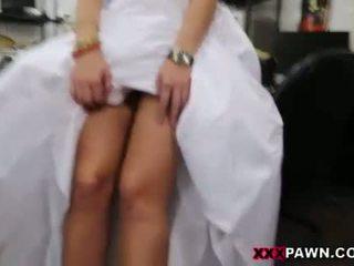 Noiva para ser pawns dela twat e slammed