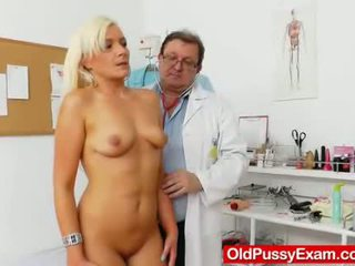 médecin, spéculum, gynochair