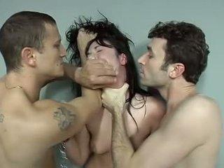 brunett, oralsex, deep throat