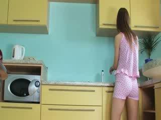Luxe toying vastgrijpen in de keuken