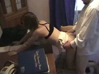 ישן אדם בוס fucks שלו הדוקה employee