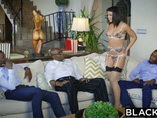 Blacked adriana chechik takes trio з bbcs