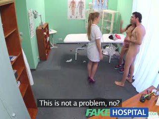 Fakehospital forró ápolónő joins pár -ban hármasban