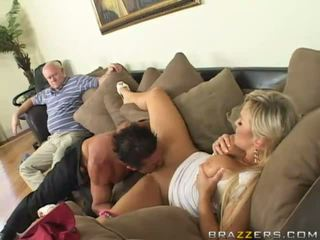 Blonde busty wife gets her pussy realy hard fucked by a big dick