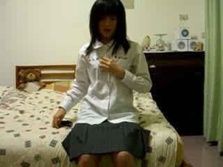 Tóc rậm trung quốc cô gái trên cẩm video