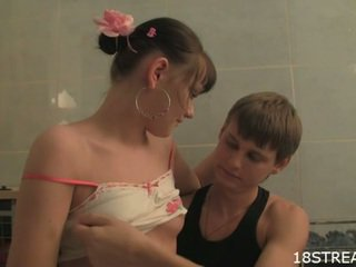 drilling teen pussy, oral sex, sucking cock