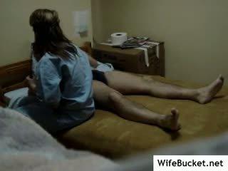 Real enfermeira fodido em escondido camera