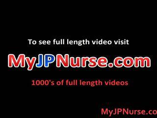 Aki yatoh asiática enfermeira likes a foder