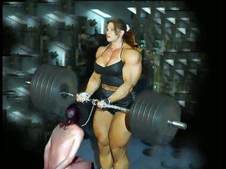 Female jõusaalis fbb bodybuilder ilusad suured naised naisdomineerija