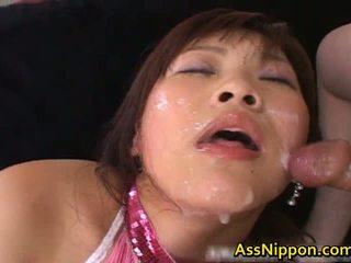 Haruka andou asiática jovem grávida puta gives