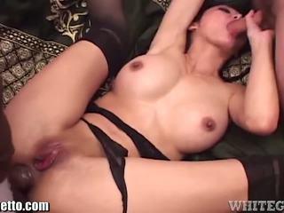 Ange Venus Spitroased Anal Threesome