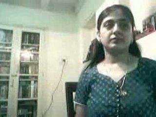 Gravid indisk par knulling på webkamera - kurb