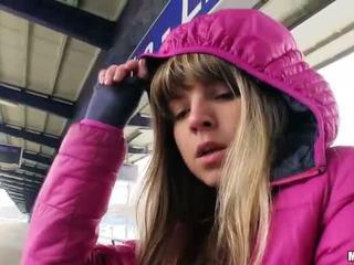Cute Czech girl Gina Gerson sex for cash