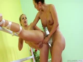 Two ballerina are doing some lesbian tali-nank silit kurang ajar