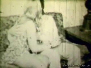 Breasty ब्लोंड रेटरो shag
