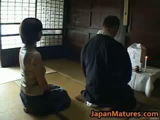 japonais, sexe de groupe, gros seins
