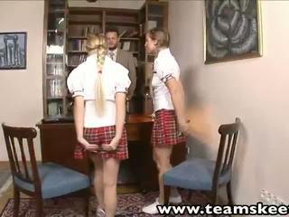 euro, threesome, teamskeet