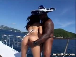 Asian Fucking Outside On A Boat In Paradise