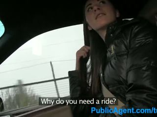 PublicAgent Sex in the car with a hitch hiker - Porn Video 121