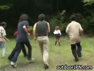 japonec, interracial, veřejnost