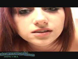 Joi - cameron, สำเร็จความใคร่ บน เธอ หน้า - กระตุก ปิด คำแนะนำ. สวย หัวแดง ผู้หญิงสวย ด้วย เซ็กซี่ หน้า.