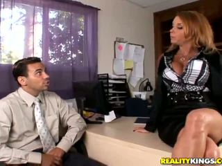 Randy And Bigtitted MILF Janet Mason Loves To Be The Chief