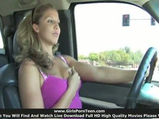 masturbatie, publiek, auto