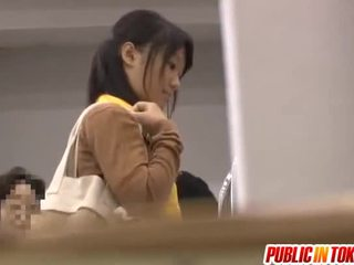 Japanee julkinen shagging involving insane hoo hoo stimulation