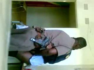 африкански, униформа, cop