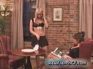 Krāšņa francūzieši girlfriends licking
