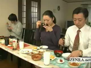 Subtitled ביזארי יפני bottomless לא תחתונים משפחה
