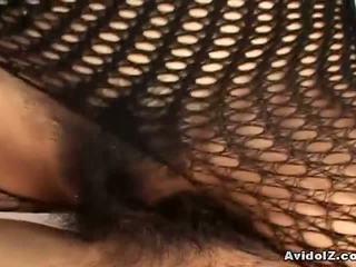giapponese, fishnet, bodystocking