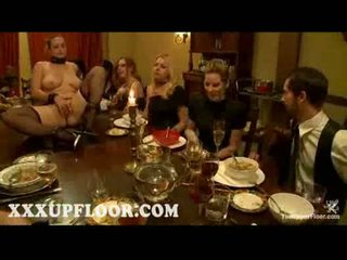 Naked lesbian servants gets whipped