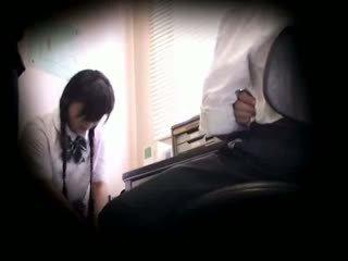 Blackmailed innocent écolière