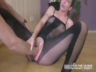 Fisting Her Wrecked Teen Pussy Till She Squirts Hard